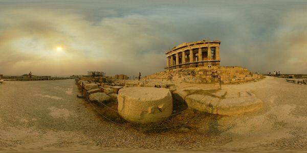 Greece Acropolis Parthenon panorama