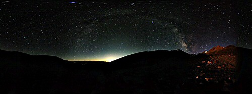 India Ladakh panorama night sky stars milky way