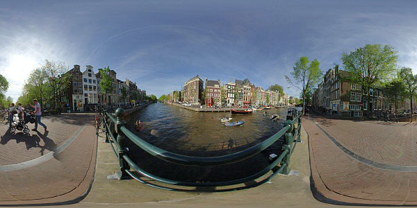 Netherlands Amsterdam panorama canals