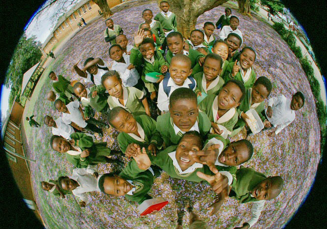 children africa Fisheye photography